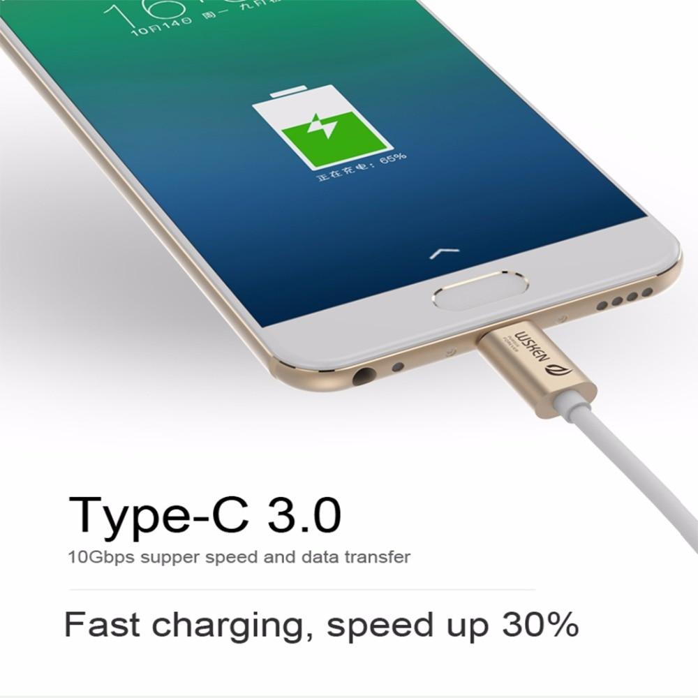 WSKEN-kabel USB C-kabel 3.0 Metaldata USB-typ C-kabel USB-C - Reservdelar och tillbehör för mobiltelefoner - Foto 5
