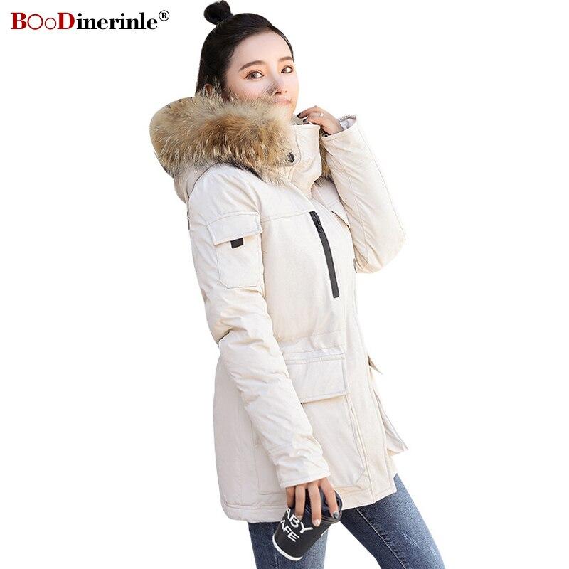 BOoDinerinle Woman's Winter Jacket Women Retro Casual Hooded Down Cotton Parka Coatwomen Plus Size 2XL Warm Cotton-padded Coat
