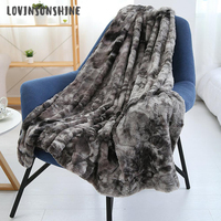 LOVINSUNSHINE Soft Solid Color Fur Throw Blanket On The Couch Throw On Sofa Bed Cover Rectangle Blanket AB#184