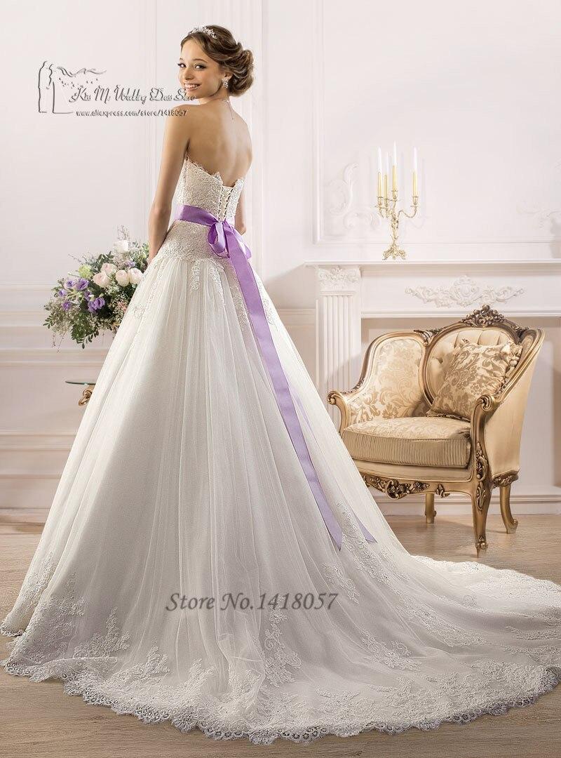Wedding Dress With Purple Back