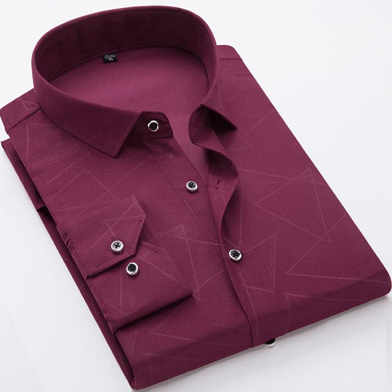 2018 New Mens Shirts Cotton Men Shirt Mens Clothing Chemise Social casual Slim fit Printed Dress Homme M, XL, XXL, 3XL, 4XL