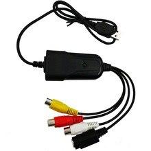 Portátil USB 2,0 AV/RCA compuesto y s video Audio Tarjeta de captura de vídeo VHS adaptador DVD