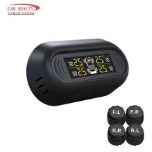 TPMS セキュリティタイヤ警報システムオート 車のタイヤゲージ圧力監視システム Lcd