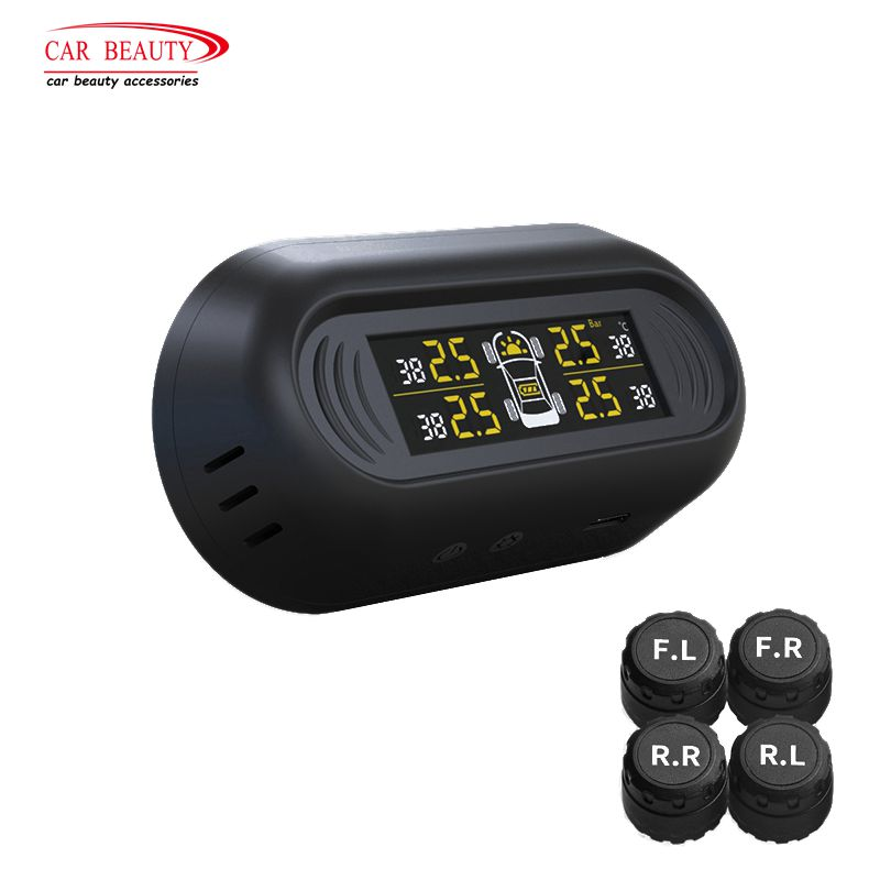 Car Tire Gauges Pressure Monitoring System TPMS Vehicle Wireless Digital LCD Display Auto Security Tyre Alarm Systems for Auto flashlight tire gauge emergency tool digital lcd car tyre tire pressure gauge meter hammer for car motorcycle bicycle