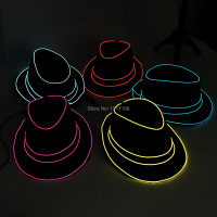 Wholesale 10 Pcs Glowing Gentleman Caps Party Hat Halloween Party Supplies 10 Colors Select Led Mask
