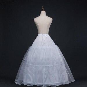 Image 3 - 52016 Wedding Dress Crinoline Bridal Petticoat Underskirt 3 Hoops