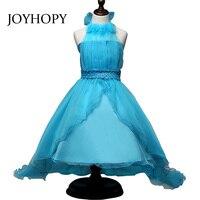 Nuevo Verano niña vestido de flores para la fiesta de boda halter princesa vestidos ropa niños niños Adolescentes ropa formal