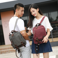 2016 New Fashion Style Unisex Backpack School Bags For Teenager 7 Color Available High Quality Canvas