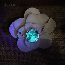 SUTEYI Glow in the Darkness Crystal Bracelet Jewelry Luminous Star Series Planet Bracelets & Bangles Glass Cabochon Bracelets(China)