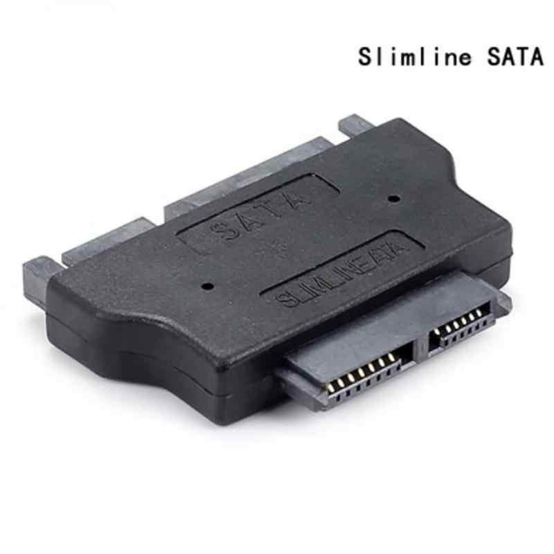 Adaptador Slimline SATA Serie ATA 7 + 15 22pin macho a Delgado 7 + 6 13pin adaptador hembra para escritorio disco Duro HDD CD-ROM para ordenador portátil
