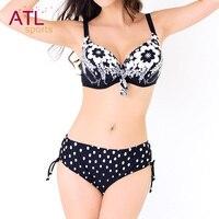 Padded Bathing Suit Printed Swimsuit Women Plus Size Swimwear Large Size Bikini Set High Waist Bikini
