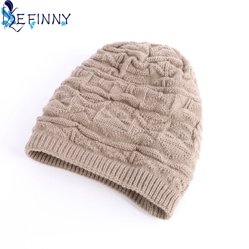 b7315acac10cf ... Winter Autumn Hat Men Women Warm Knitted Beanie Skull Cap Unisex  Cashmere Hip-Hop ...