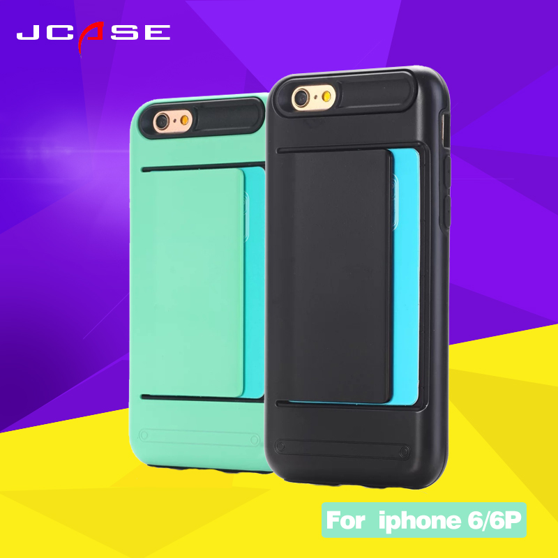 Fashion 2in1 With Card Pocket Cell Phone Case For iphone 6