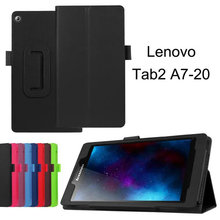 For Lenovo Tab 2 A7-10 A7-10F A7-20 A7-20F Tab2 A7 20 10 Tablet Case Cover Bracket Flip Fashion PU Leather Cover Case+ Film(China)