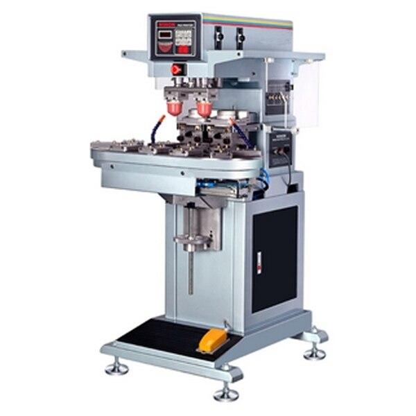 Автоматическая 2 цвет конвейер печать чашки чернил тампопечать машина для пластика, дерева, ручки, SD карты
