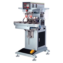 automatic 2 color conveyor seal ink cup pad printing machine for plastic,wood,pens,SD card
