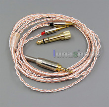800 Wires Soft Silver + OCC Alloy Teflon AFT Earphone Cable For Oppo PM-1 PM-2 Planar Magnetic