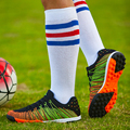 2016 New Original Football Boots Flywire Soccer Cleats Shoes Orange/Blue Athletics Spikes Shoes For Men Children Soccer Cleats