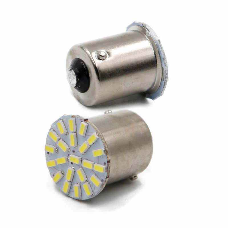 אביזרי רכב סופר בהיר BA15S P21W 1156 22 LED SMD רכב אוטומטי זנב צד מחוון אורות איתות הנורה לבן 3014 DC12V