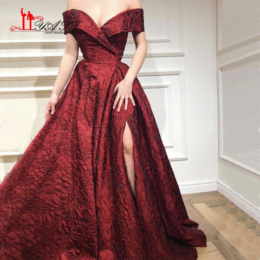 Designer Prom Dresses: LIYATT 2018 Newest Designer Long Wine Red Gowns Off