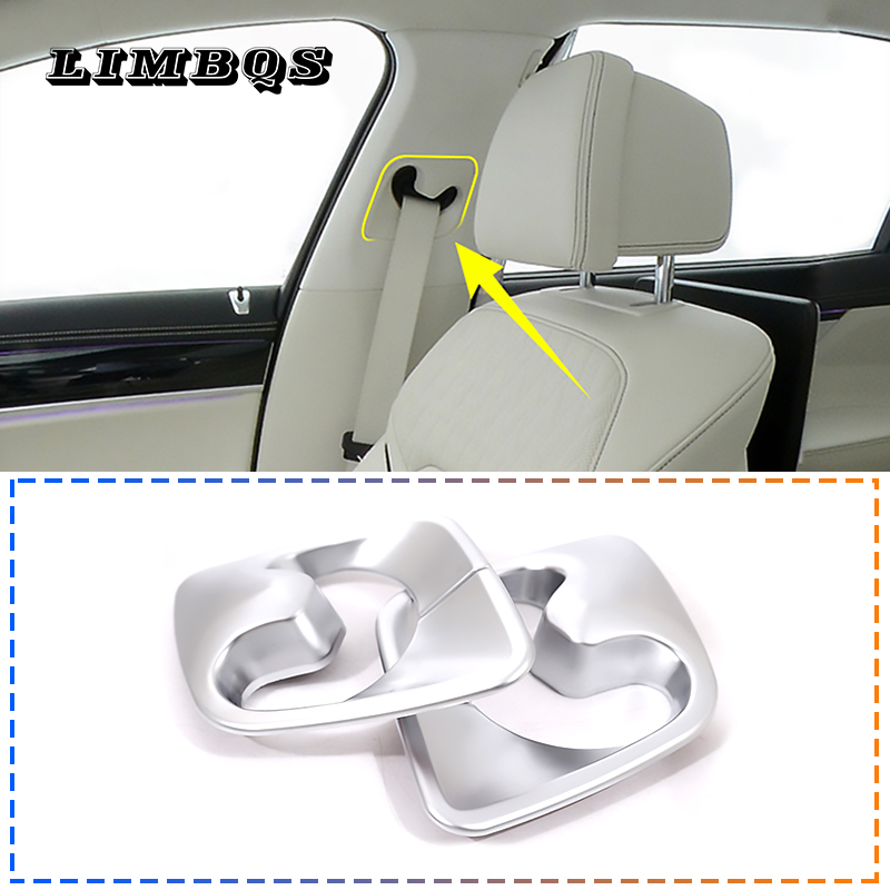 Matte ABS Rearview Mirror Cover Trim 2pcs for BMW 7 series G11//G12 2016-2018