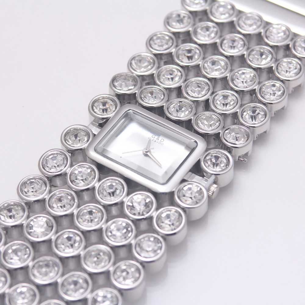 Luxo Senhora Pulseira Relógios Dress Watch Relojes
