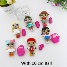 Doll Dress Change Unpacking Doll Confetti Pop Cute Boneca LOL Bebek Action Figure Toy For Kids Girls Funny Gifts(China)