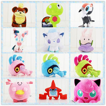 13-33cm eevee murloc plush cartoon doll toys Jigglypuff Chansey Zygarde Pikipek Goomy white Alola Vulpix Rotom Growlithe dog toy