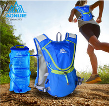 NEW AONIJIE 8L Running Backpack Kettle Package Marathon Cycling Bags Running Vest Kettle Sport Bag Waterproof Nylon Bag E883