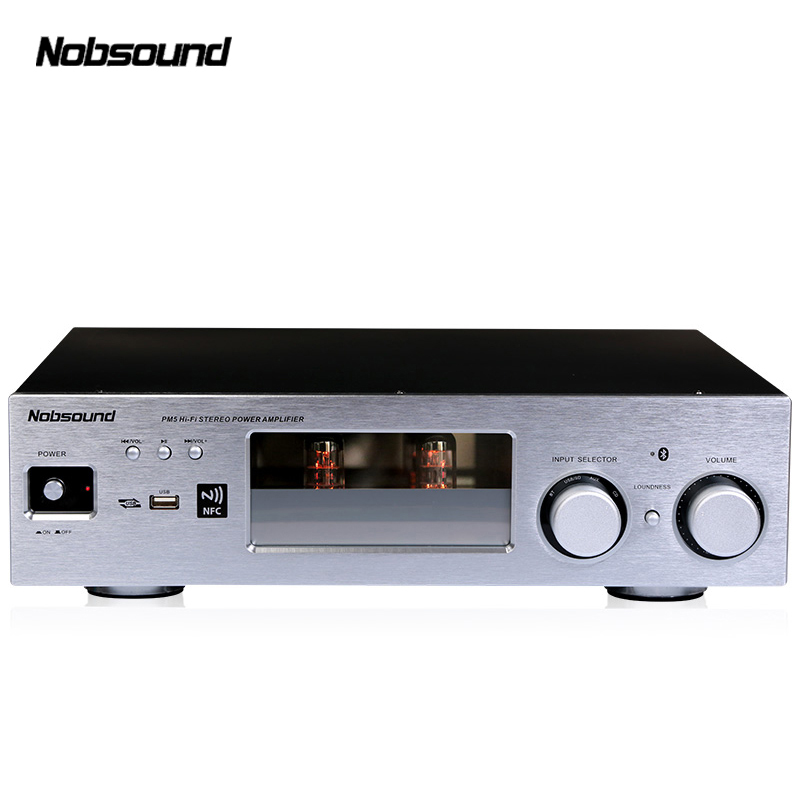 Nobsound PM5 250W High End HiFi 2.0 Vaccum Tube stereo Amplifier NFC Bluetooth Home Audio Amplifier USB/FLAC/APE 80W+80W new nobsound pm5 tube amplifier with bluetooth nfc usb flac lossless music player hifi stereo amp audio amplifier 80w 80w
