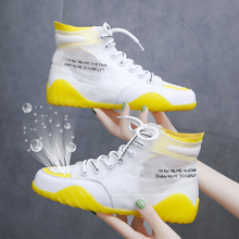 BZBFSKY/женские кроссовки; дышащая обувь на плоской подошве; Новинка; Модные Повседневные кроссовки; белые уличные высокие женские туфли до щиколотки; tenis feminino