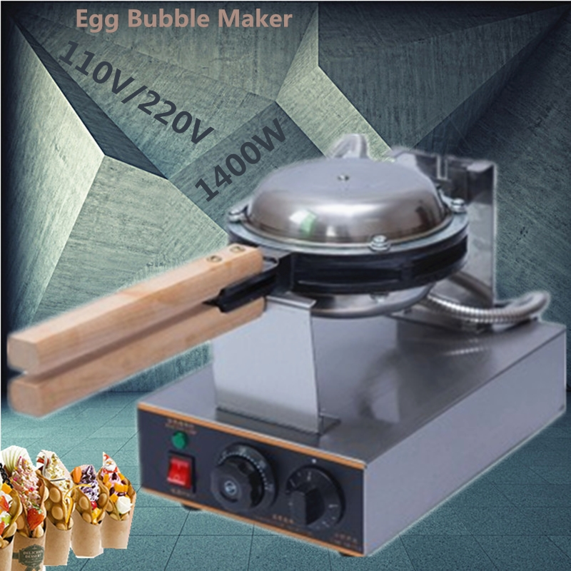 Commercial 220V/110V Electric Sandwich Maker Chinese Hong Kong Egg Waffle Iron Maker Machine Bubble Egg Cake Oven commercial electric oden maker kanto cook maker iron machine chinese popular malatang cook machine