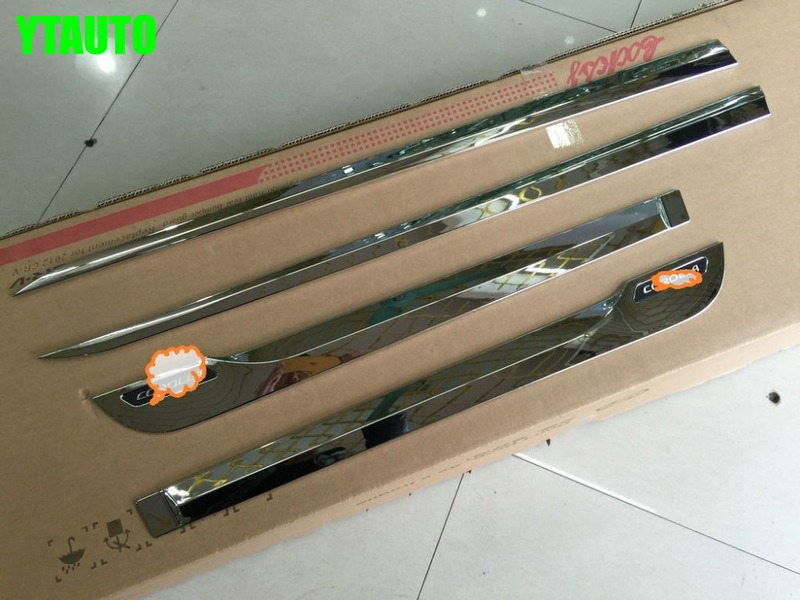 High Quality Abs Chrome Car 4pcs lots Auto Side Door Trim For TOYOTA Corolla 2014
