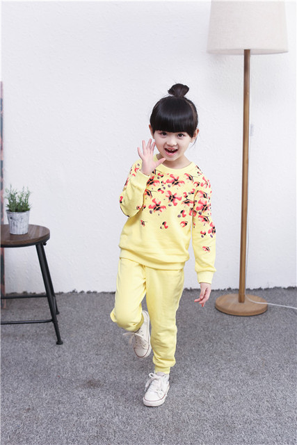 Cute Sweater and Pants Set for Girls with Butterfly Designs