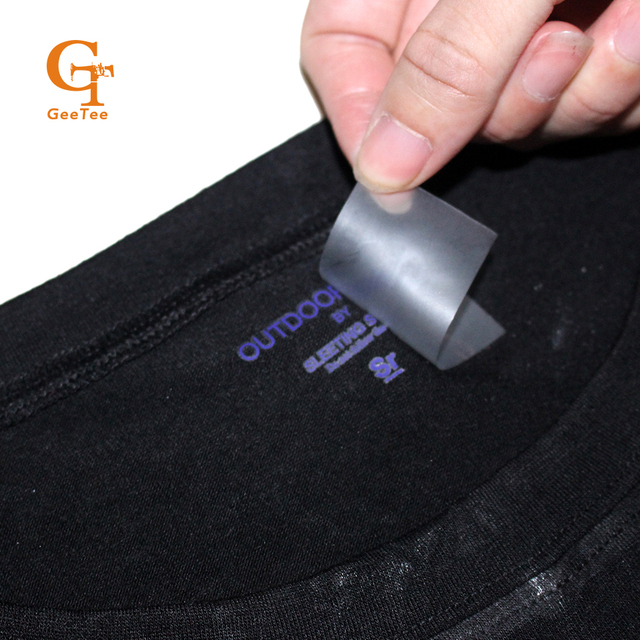 Custom name brand logo non feel heat transfer labels washing instruction with size heat printing