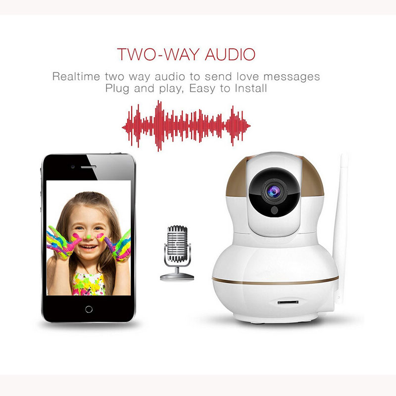 ФОТО WiFi Wireless 720P IP Camera WiFi IP Camera Two Way Audio Baby Monitor Pan Tilt Security Camera  Night Vision 5 Color