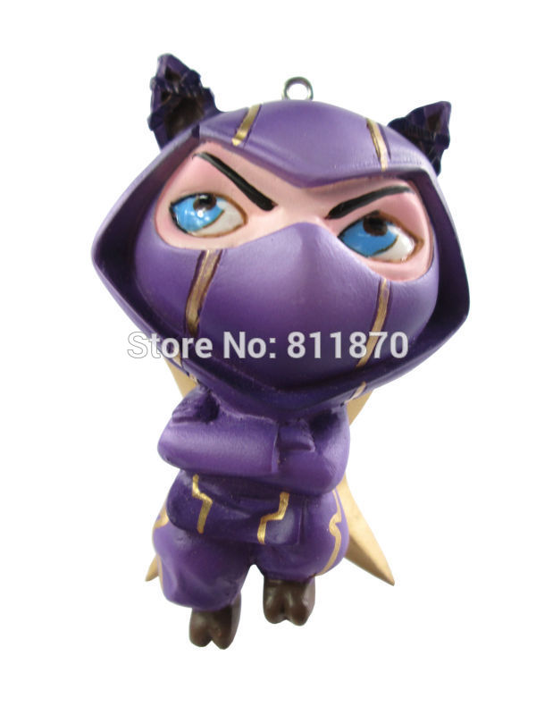 LOL Cosplay The Heart of The Tempest Kennen 6.5cm/2.6'' Boxed PU Action Figures Model Toys GK Garage Kit tempest