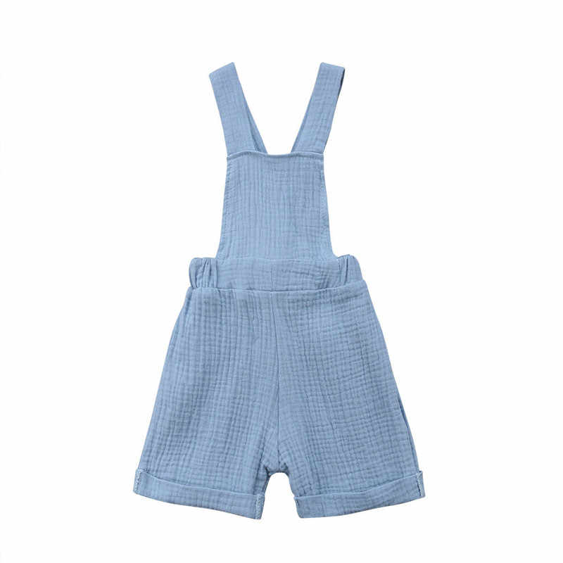 a59833951ba9 Fashion Toddler Newborn Kids Boy Girl Bib Pants Casual Rompers Summer  Sleeveless Jumpsuit Cotton Playsuit Blue