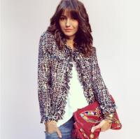 Tweed Jacket Coat Ladies Autumn Winter New High End Small Fragrant Wind Beaded Jacket A Generation