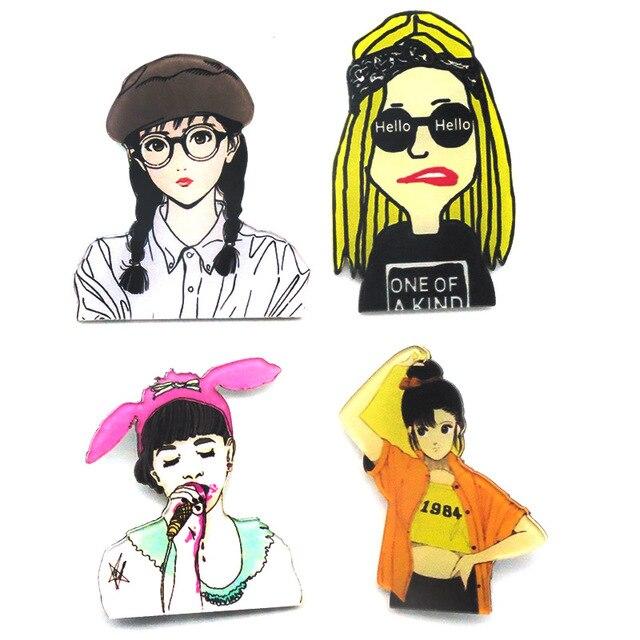 Nueva Lapel Pin Hombres Mujeres Harajuku Cute Dibujos Animados De