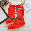 heat! 2016 new spring autumn baby boys girls Cotton cartoon coat + T-shirt + stripe pants 3pcs/sets children brand Free Shipping