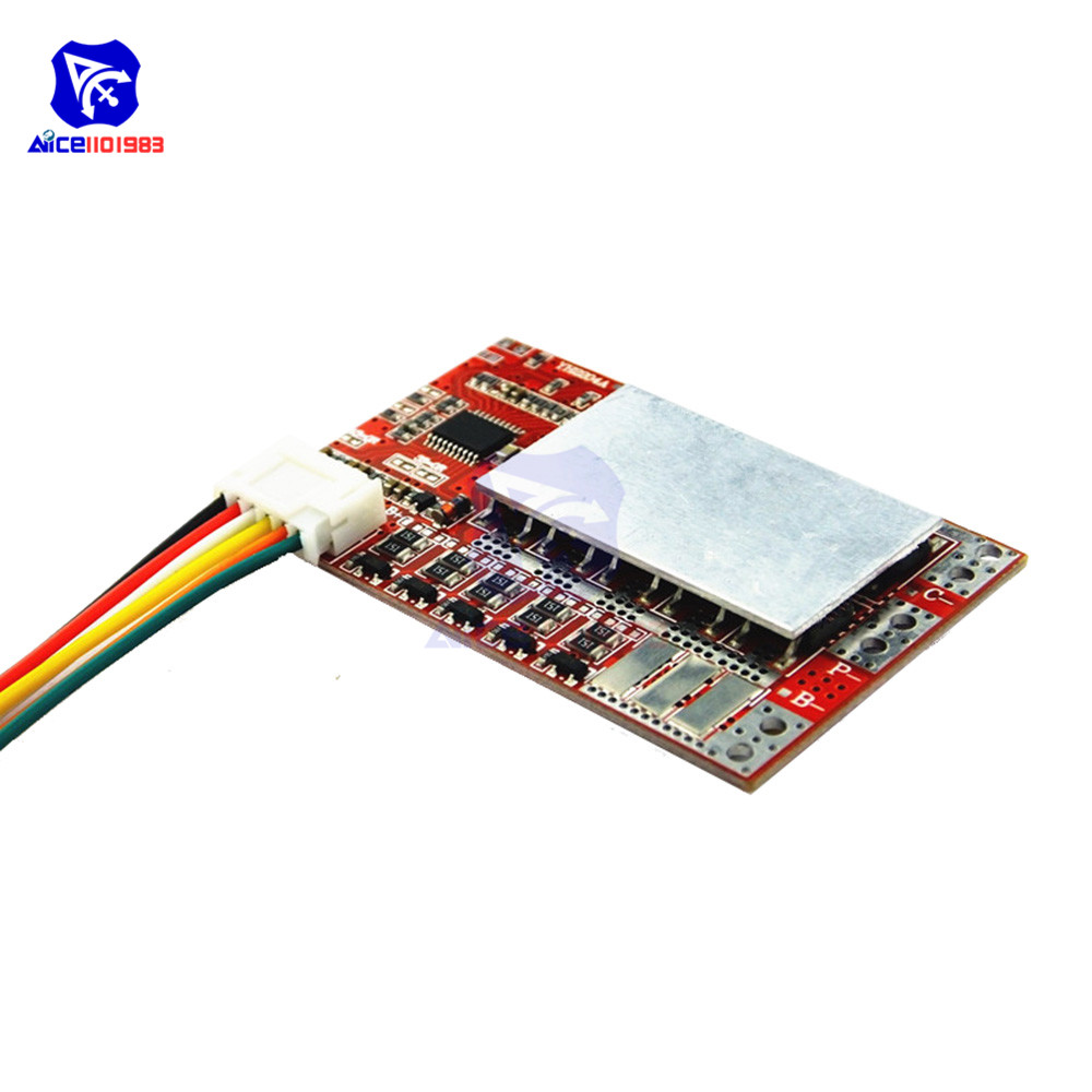 4S 5S 50A BMS Board 3.2V/3.7V Iron Phosphate LiFePO4 Battery BMS Board 3.2/3.7V 18650 Lithium Battery Protection Board W/Balance