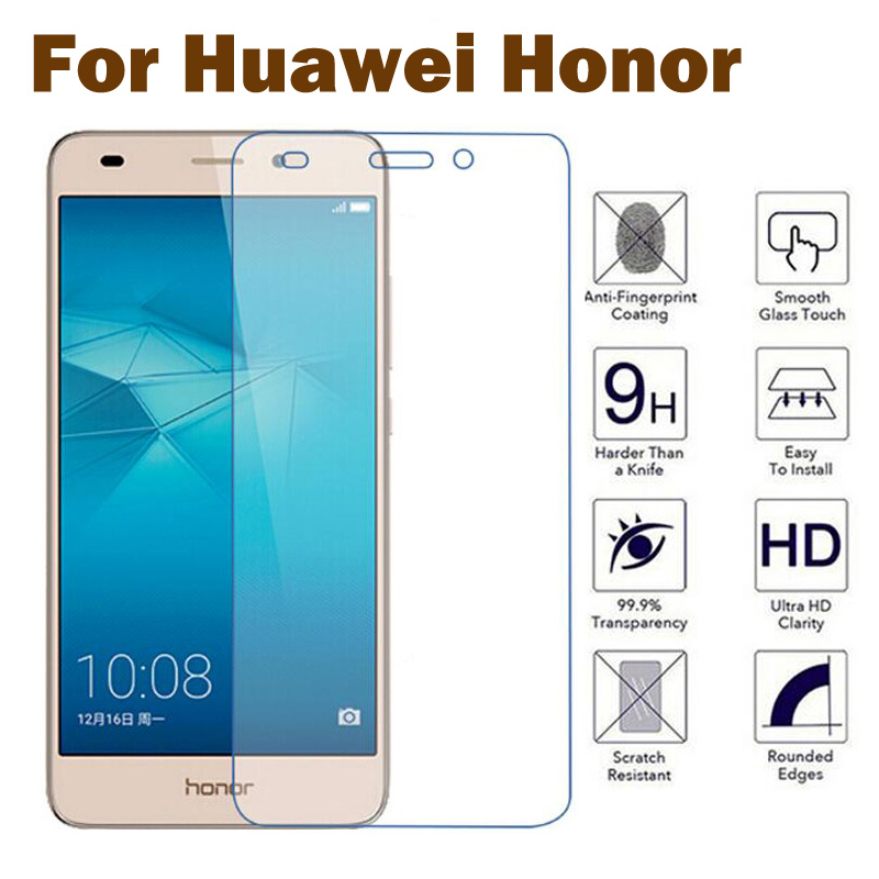 GerTong Tempered Glass for Huawei Honor 7 6 Plus 4C P10 Lite P10 Plus P9 P8  Lite Y6 II Pro Screen Protector Toughened Glass Film adfe4b74665e