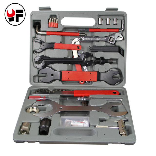 44PCS Mountain Bike Patchs Bicycle Accessories Maintenance Repair box diagnostic tools Kit Valuables Cycling Chain case DN176