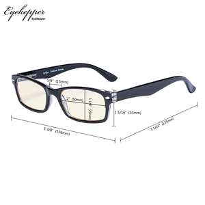 Image 5 - CG055 SpringHinges UV Protection, Anti Glare Anti Blue Rays,Scratch Resistant Lens Yellow Tinted Lenses Computer Reading Glasses