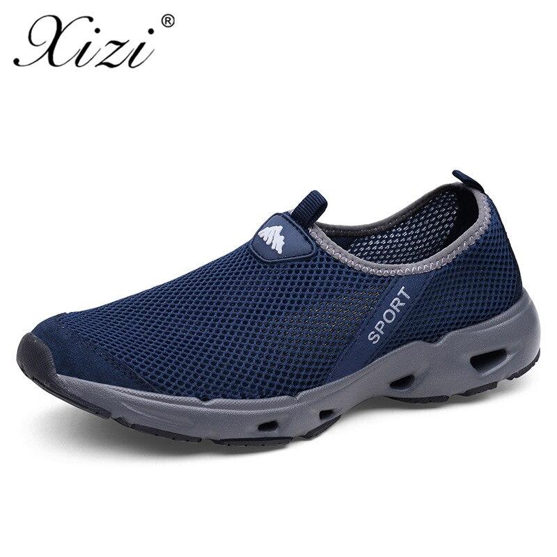 6a5c0b83a XIZI/мужская повседневная обувь, летние кроссовки, дышащая пара, сетчатая  обувь, слипоны, модные лоферы, летняя легкая повседневная обувь, раз.