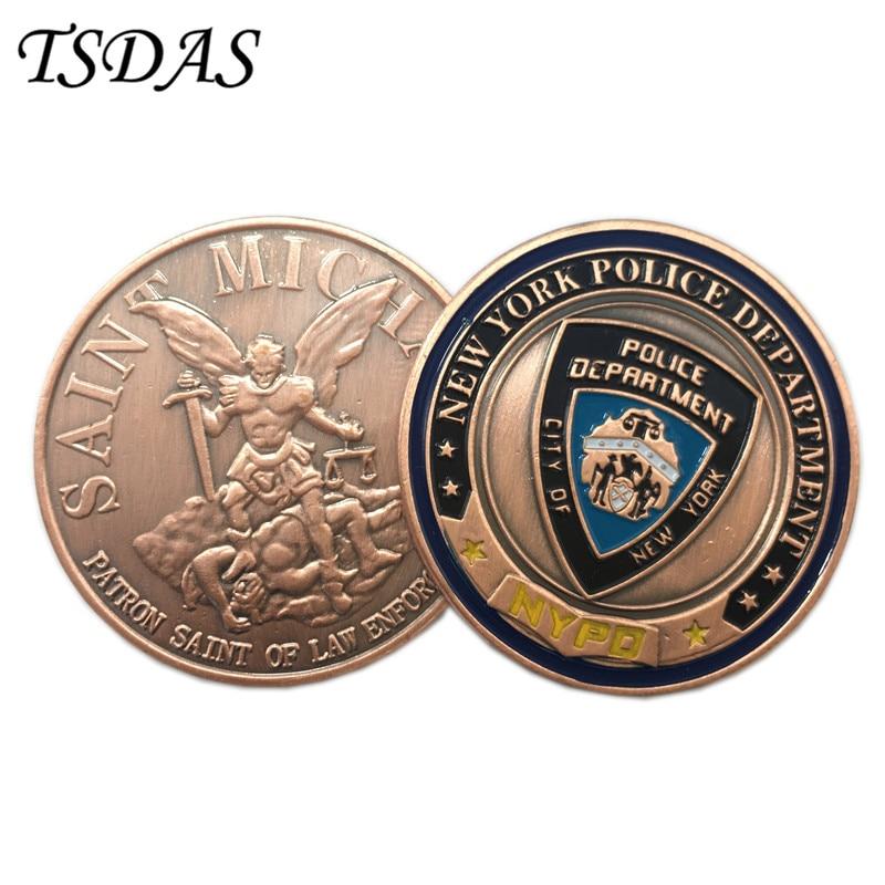 Monedas del Desafío del Ejército del Departamento de Policía de - Decoración del hogar