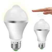 E27 7W 14 LED Motion Sensor Light Bulbs PIR Infrared Motion Detection Light Indoor Outdoor Lighting