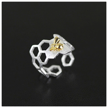 Lotus Fun Exclusive New Arrival Handmade Jewelry Unique Creative Special Honeycomb Women Ring Real 925 Sterling