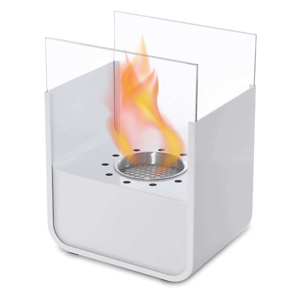 36 Inch Stainless Steel Silver Manual Ethanol Fireplace
